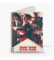 Captain America Civil War 2016 Custom Personalized Spiral Notebook Cover