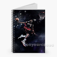 Dwyane Wade Miami Heat Dunk Custom Personalized Spiral Notebook Cover