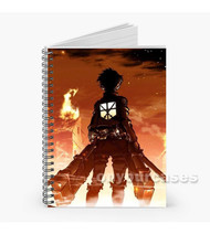 Eren Jaeger Attack On Titan Custom Personalized Spiral Notebook Cover