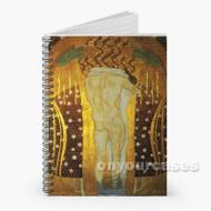 Gustav Klimt Beethoven Frieze 2 Custom Personalized Spiral Notebook Cover