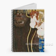 Gustav Klimt Beethoven Frieze Custom Personalized Spiral Notebook Cover
