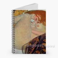 Gustav Klimt Dana Custom Personalized Spiral Notebook Cover