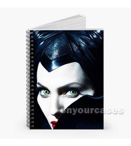 Maleficent Angelina Jolie Custom Personalized Spiral Notebook Cover