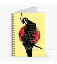 Samurai Warrior Custom Personalized Spiral Notebook Cover