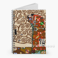 The Tree of Life Stoclet Frieze Gustav Klimt Custom Personalized Spiral Notebook Cover