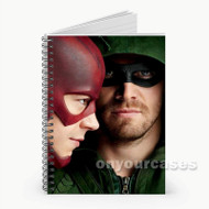 Arrow and The Flash Custom Personalized Spiral Notebook Cover
