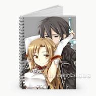 Asuna x Kirito Sword Art Online Custom Personalized Spiral Notebook Cover