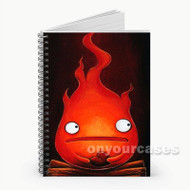 Calcifer Howl s Moving Castle Custom Personalized Spiral Notebook Cover