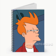 Fry Futurama Custom Personalized Spiral Notebook Cover