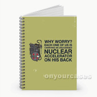 Ghostbusters Quotes Custom Personalized Spiral Notebook Cover