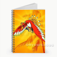Ho Oh Pokemon Custom Personalized Spiral Notebook Cover