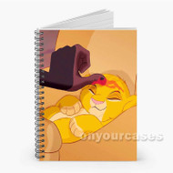 Simba The Lion King Custom Personalized Spiral Notebook Cover
