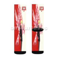 ACCA 13 ku Kansatsu ka Custom Sublimation Printed Socks Polyester Acrylic Nylon Spandex with Small Medium Large Size