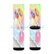 Aikatsu Stars Custom Sublimation Printed Socks Polyester Acrylic Nylon Spandex with Small Medium Large Size