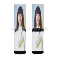 Aimyon Marigold Custom Sublimation Printed Socks Polyester Acrylic Nylon Spandex with Small Medium Large Size