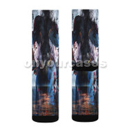 Ajin Part 3 Shougeki Custom Sublimation Printed Socks Polyester Acrylic Nylon Spandex with Small Medium Large Size