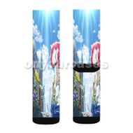 Akiba s Trip The Animation 2 Custom Sublimation Printed Socks Polyester Acrylic Nylon Spandex with Small Medium Large Size