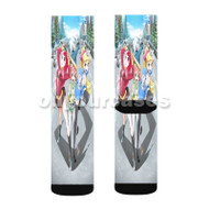Akiba s Trip The Animation Custom Sublimation Printed Socks Polyester Acrylic Nylon Spandex with Small Medium Large Size