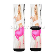 Alexis Texas Custom Sublimation Printed Socks Polyester Acrylic Nylon Spandex with Small Medium Large Size