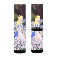 Alice in Wonderland Custom Sublimation Printed Socks Polyester Acrylic Nylon Spandex with Small Medium Large Size