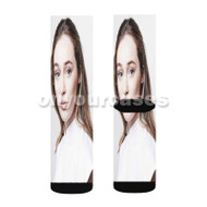 Alycia Debnam Carey Custom Sublimation Printed Socks Polyester Acrylic Nylon Spandex with Small Medium Large Size