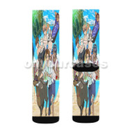 Ameiro Cocoa in Hawaii Custom Sublimation Printed Socks Polyester Acrylic Nylon Spandex with Small Medium Large Size