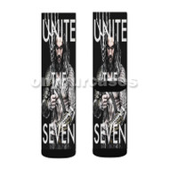 Aquaman Unite The Seven Custom Sublimation Printed Socks Polyester Acrylic Nylon Spandex with Small Medium Large Size