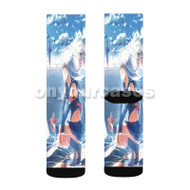 Arpeggio of Blue Steel Custom Sublimation Printed Socks Polyester Acrylic Nylon Spandex with Small Medium Large Size