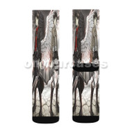 Attack on Titan Eren Jaeger Custom Sublimation Printed Socks Polyester Acrylic Nylon Spandex with Small Medium Large Size