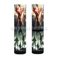 Attack on Titan Season 2 Custom Sublimation Printed Socks Polyester Acrylic Nylon Spandex with Small Medium Large Size