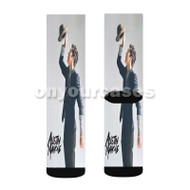 Austin Mahone Custom Sublimation Printed Socks Polyester Acrylic Nylon Spandex with Small Medium Large Size