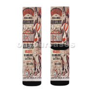 Aux Buttes Chaumont Custom Sublimation Printed Socks Polyester Acrylic Nylon Spandex with Small Medium Large Size