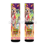 Battle Spirits Double Drive Custom Sublimation Printed Socks Polyester Acrylic Nylon Spandex with Small Medium Large Size
