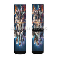 BBK BRNK The Gentle Giants of the Galaxy Custom Sublimation Printed Socks Polyester Acrylic Nylon Sp with Small Medium Large Size