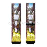 Big Sean Take No L s Custom Sublimation Printed Socks Polyester Acrylic Nylon Spandex with Small Medium Large Size