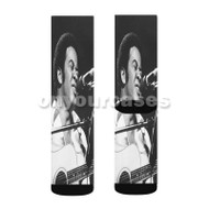 Bill Withers Custom Sublimation Printed Socks Polyester Acrylic Nylon Spandex with Small Medium Large Size