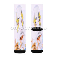Blanco J Balvin Custom Sublimation Printed Socks Polyester Acrylic Nylon Spandex with Small Medium Large Size
