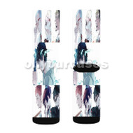 Blue Exorcist 2017 Custom Sublimation Printed Socks Polyester Acrylic Nylon Spandex with Small Medium Large Size