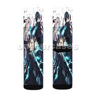 Blue Exorcist Custom Sublimation Printed Socks Polyester Acrylic Nylon Spandex with Small Medium Large Size