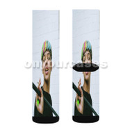 Bonzai Custom Sublimation Printed Socks Polyester Acrylic Nylon Spandex with Small Medium Large Size