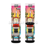 Bryant Myers Marko Silva Te Echo De Menos Custom Sublimation Printed Socks Polyester Acrylic Nylon S with Small Medium Large Size