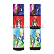 Cardfight Vanguard G Next Custom Sublimation Printed Socks Polyester Acrylic Nylon Spandex with Small Medium Large Size