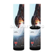 Cars 3 Custom Sublimation Printed Socks Polyester Acrylic Nylon Spandex with Small Medium Large Size