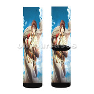 Chain Chronicle Haecceitas no Hikari Custom Sublimation Printed Socks Polyester Acrylic Nylon Spande with Small Medium Large Size
