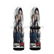 Criminal Minds Custom Sublimation Printed Socks Polyester Acrylic Nylon Spandex with Small Medium Large Size
