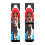 Da Baby Smile Custom Sublimation Printed Socks Polyester Acrylic Nylon Spandex with Small Medium Large Size