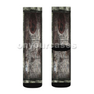Dark Brotherhood Custom Sublimation Printed Socks Polyester Acrylic Nylon Spandex with Small Medium Large Size