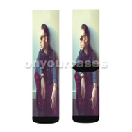 Darrein Safron Custom Sublimation Printed Socks Polyester Acrylic Nylon Spandex with Small Medium Large Size
