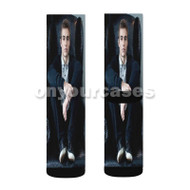 Dave Franco Custom Sublimation Printed Socks Polyester Acrylic Nylon Spandex with Small Medium Large Size