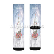 Dej Loaf feat Kodak Black All I Want for Christmas Custom Sublimation Printed Socks Polyester Acryli with Small Medium Large Size